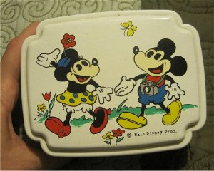Mickey with Camera and Minnie Mouse Vintage Walt Disney Prod.Box