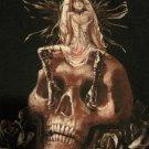 Death Goth Fairy (Fairy /Skull)Sleeveless Hoodie Junior Size Medium