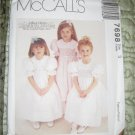 McCall's Sewing Pattern Girls Dresses SMOCK DRESS with Peter Pan Collar Size 3