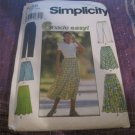 6 Easy Pull on Summer Skirts Pants Shorts Capri Simplicity Sewing Pattern  7655 Sz L XL