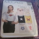 McCall's Sewing Pattern 7992 Pullover Top With Applique Designs Sizes 4-14