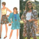 Simplicity Sewing Pattern Misses Shorts,Top,Unlined jacket Size AA (PT-MD)