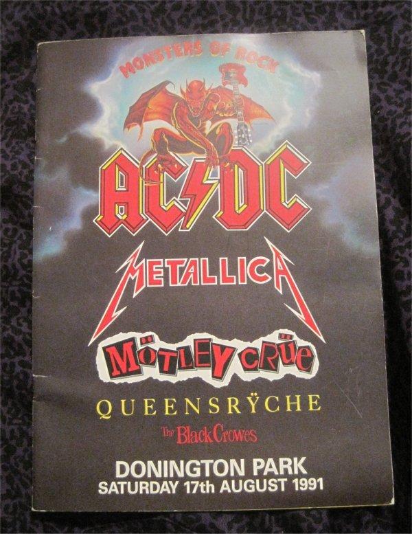 Metallica Ac Dc Motley Crue 1991 Monsters Of Rock