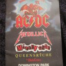 METALLICA / AC/DC / MOTLEY CRUE 1991 MONSTERS OF ROCK PROGRAM TOUR BOOK