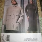 Vogue 2585 Geoffrey Beene Over Sized Jacket and Fitted Straight Dress Sizes 8-10-12 uncut