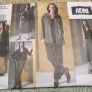 Vogue V2875 Sewing Pattern ADRI Jacket Top Skirts Pants Size 6-8-10 Uncut