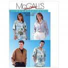 McCalls Pattern Classic Fit MISSES', MEN'S AND TEEN BOY'S 2 Hour SHIRTS