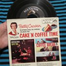 """Betty Crocker invites you to enjoy music for Cake 'N Coffee Time 45 RPM Record 7"""" w/ ps RARE"""