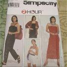 Simplicity 8753 Misses' Jacket, Bag, Knit Dress and Jumpsuit Sewing Pattern Size L-XL UNCUT