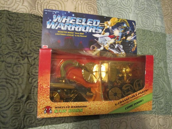 Wheeled Warriors Saw Boss Sealed Vintage W Comic Mattel