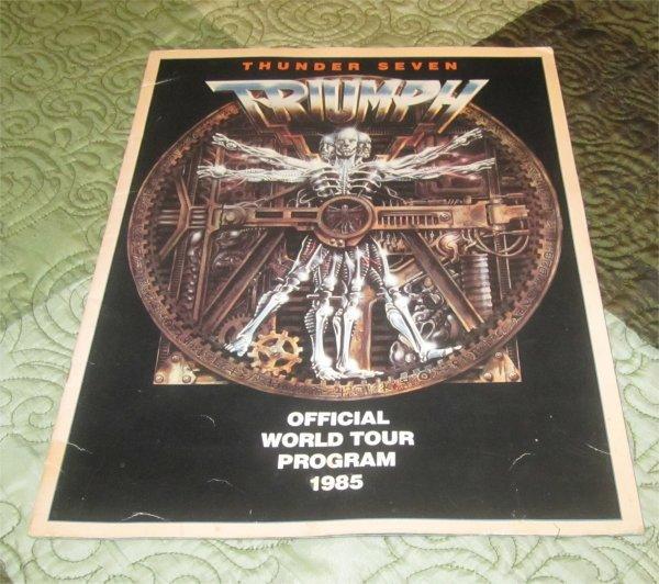 "Official Triumph 1985 ""Thunder Seven"" Concert Tour Program Book (tourbook)"
