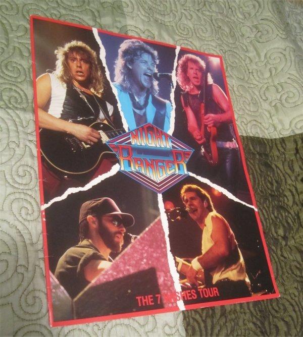 Official Night Ranger 7 Wishes Tour Concert Tour Program - Book 1985 (tourbook)