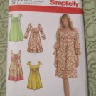 Simplicity Sewing Pattern 3777 Empire Bodice Dress 2 lengths w/ Sleeve Variations Size 12-20