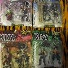 1998 KISS Band In Make Up Mcfarlane Psycho Circus Action Figure Set of 4