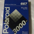 NEW Polaroid 667 B&W Instant Pack Film ISO-3000 RARE Hard to Find FREE SHIPPING