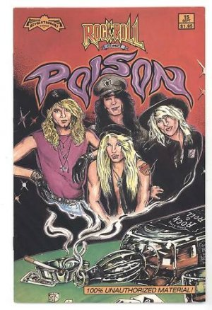 Poison 80 S Rock Glam Hair Band Comic Book Bret Michaels