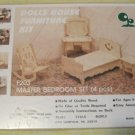 NEW DOLLHOUSE MINIATURE MASTER BEDROOM FURNITURE KIT