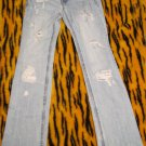Aeropostale Chelsea bootcut 1/2 Reg  Worn/Destroyed Awesome Blue Jeans