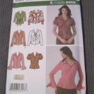 Simplicity 4487 Misses Blouse Sewing Pattern Size 8,10,12,14,16 uncut