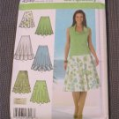 Simplicity 4546 Misses three quarter Circle Skirt in three lengths size 4,6,8,10 uncut