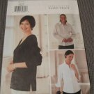Butterick 3456 Misses Top collar and sleeve variations Sewing pattern.Uncut size 6,8,10
