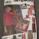 Simplicity 5274 sewing pattern for juniors (teen) pants, knit tops, cap and back-pack