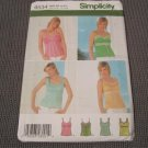 Simplicity 4534 Sewing Pattern Misses Camisole Tops Size 4,6,8,10