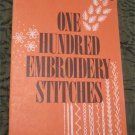 Vintage One Hundred Embroidery Stitches by Coats & Clark Inc (1979)