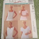 McCall's Sewing Pattern 2818  Classic Fit button up the Back TopsMisses Size 8-12 UNCUT