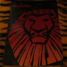 1997 THE LION KING BROADWAY MUSICAL PROGRAM