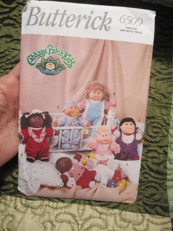 Butterick 6509 1992 Cabbage Patch Kids Doll Clothes Preemies Pattern