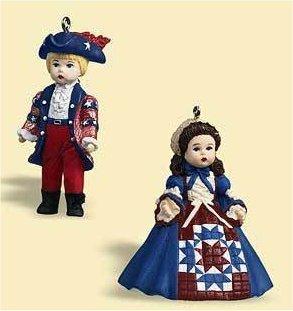 New Hallmark Ornament Yankee Doodle and Celebrating America Madame Alexander