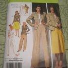 Simplicity 4044  pattern  1940's Vintage retro Skirt,Pants,Lined Jacket  Size 10, 12, 14, 16,18