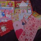 Japanese Papers Valentines, Boxes miscellaneous paper lot