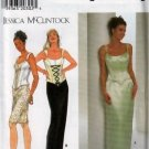 Misses' / Miss petite Bustier Corset Top and Short or Long Skirt  Simplicity Pattern 7637