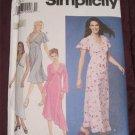 Simplicity 9258 Pattern Long Semi Fitted Dress Empire waist.Asymmetrical.Size 6,8,10,12