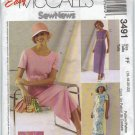 Sew News Embroidered Dress Sewing Pattern McCall's 3491 Size 16 18 20 22