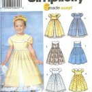 Simplicity 7120 6 made easy girls dress sewing pattern size 3,4,5,6,7,8