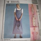 McCall's Sewing Pattern 2669 Misses Size 10,12,14 Pullover Sleeveless Dress Jumper w/ Tote Bag