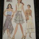 Handkerchief Hem Skirt or Tiered Skirt Pattern Vogue 9180 UNCUT