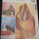 MCCALLS 3834 FASHION ACCESSORIES- HANDBAGS- SHOULDER BAGS DIY Fringe