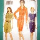 VOGUE #9495 MISSES SHIRT DRESSES BUTTON SZ 12-16 UNCUT