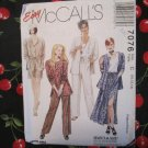 McCall's 7076  Sewing Pattern CASUAL Misses Unlined Jacket, Top, Skirt, Pants and Shorts