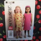 Butterick Sewing Pattern 4702 Girls Size 2-3-4-5 Easy Sleeveless  A-Line Dress and Scarf