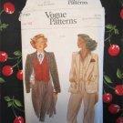 Vogue 7157  Vintage Sewing Pattern Misses Jacket and Vest Size 10