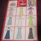 Butterick 6490 Girls Dress Sewing Pattern Very EASY Size 7,8,10 uncut