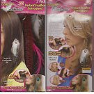Instant Feather Extensions 2 pack Snap-On  REAL FEATHERS (Hippie,trendy,)