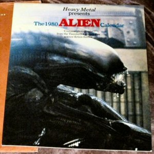 ORIGINAL Vintage 1980 ALIEN Movie Calendar by Heavy Metal in Envelope RARE