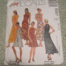 Mc Calls Sewing pattern 9357 Halter Dress Bias Dress in two Lengths Size 4,6,8