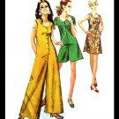 Vintage  1970s Simplicity 8744 Front Button Jumpsuit, Romper/ Sleeveless Dress Size 14 Bust 36 CUT